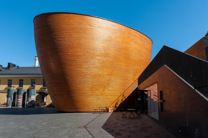 Kaplica Ciszy Kamppi w Helsinkach w Finlandii
